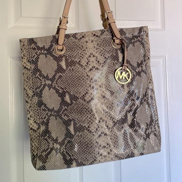 Michael Kors Snakeskin Tote Bag